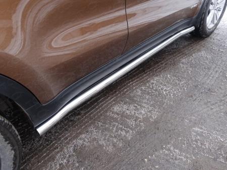 Kia Sportage 2016-Пороги труба 60,3 мм
